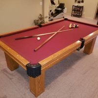 Olhausen Solid Oak 8-Foot Pool Table