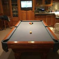 Oak Pool Table