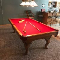 Olhausen 8' Pool Table and Chairs