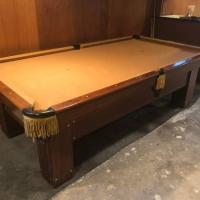 Vintage Antique Pool Table